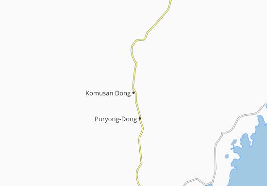 Komusan Dong Map