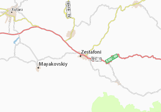 Mapa Plano Zestafoni