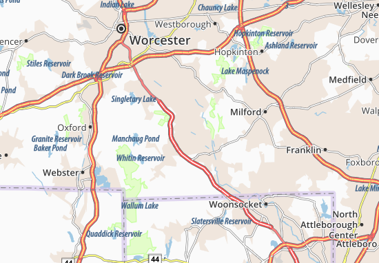 Whitinsville Map