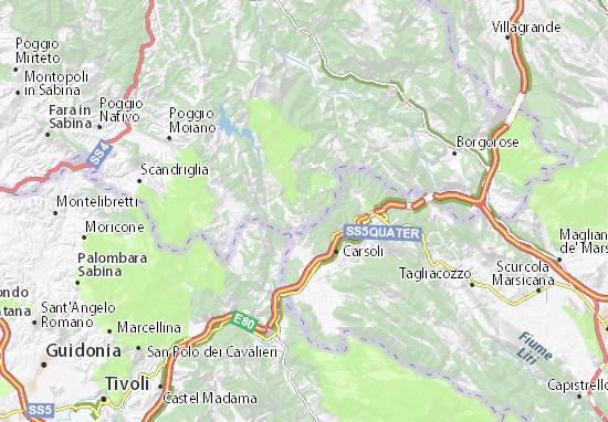 Map of Collalto Sabino - Michelin Collalto Sabino map - ViaMichelin
