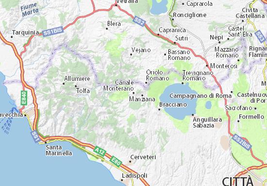 Mappe-Piantine Canale Monterano