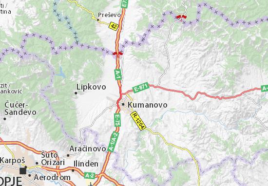 Mapa Plano Proevska Banja
