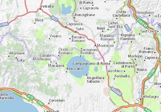 Carte-Plan Trevignano Romano