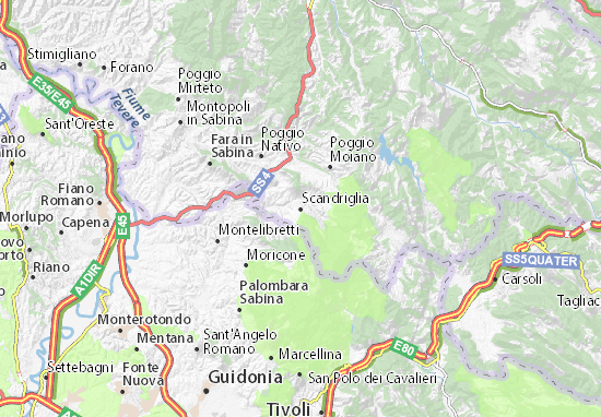 Mapas-Planos Scandriglia