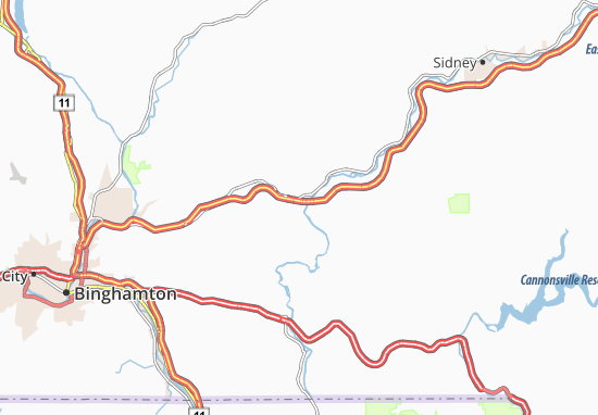 Harpursville Map