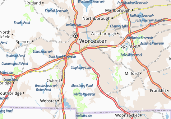 Millbury Map