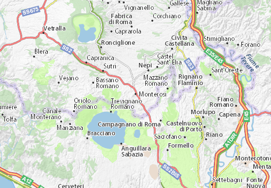 Carte-Plan Monterosi