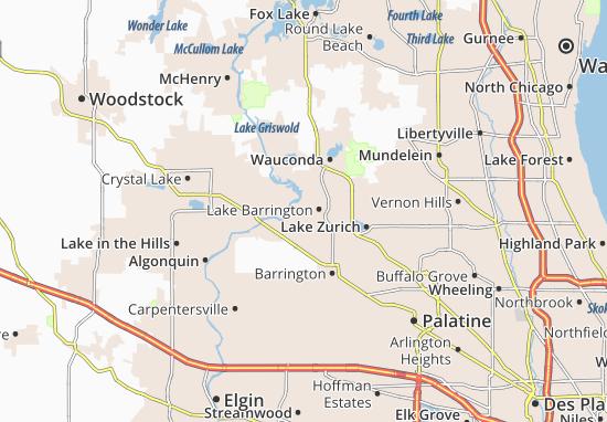 Lake Barrington Map
