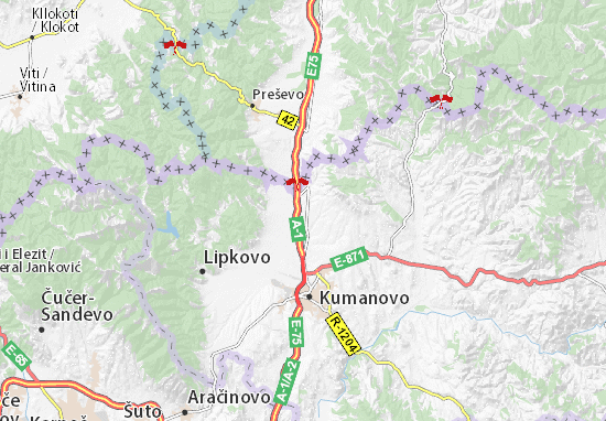 Mapa Plano Tabanovce
