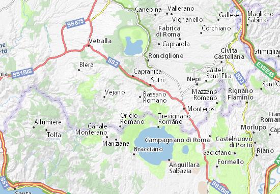 Bassano Romano Map