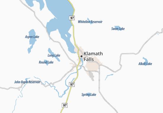 Carte-Plan Klamath Falls