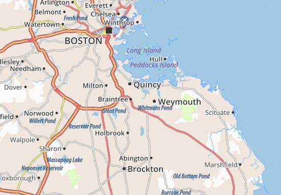 East Braintree Map