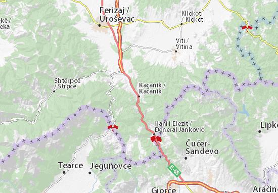 Mapa Plano Kačanik