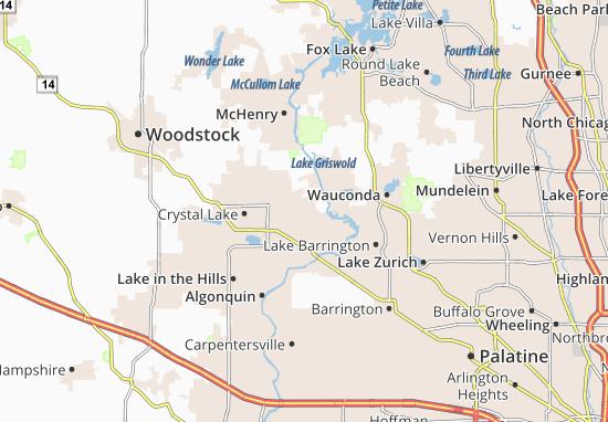 Oakwood Hills Map