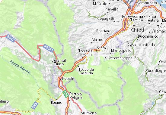 Mappe-Piantine Torre de' Passeri