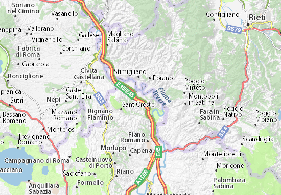 Cartina Italia Romana.Mappa Michelin Ponzano Romano Pinatina Di Ponzano Romano Viamichelin