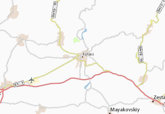 Kaart Plattegrond Kutaisi
