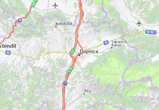 Dupnica Map
