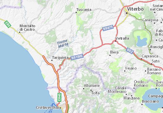 Carte-Plan Monte Romano