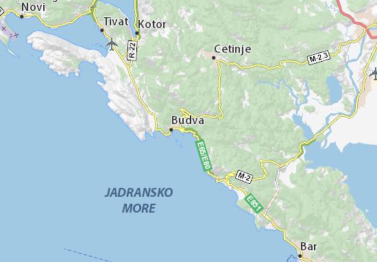 mapa becici crna gora Map of Bečići   Michelin Bečići map   ViaMichelin mapa becici crna gora