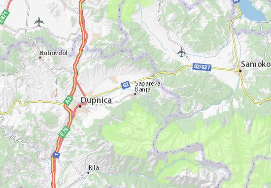Mapa Plano Sapareva Banja