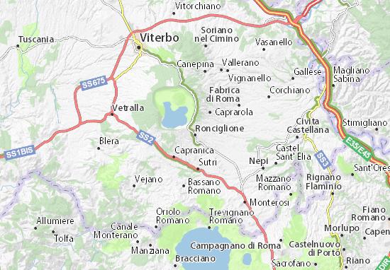 Ronciglione Map