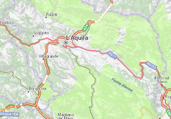 Aquila Italy Map.Fossa Map Detailed Maps For The City Of Fossa Viamichelin