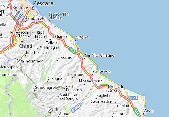 San Vito Chietino Map