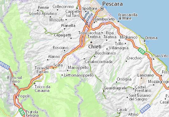Casalincontrada Map