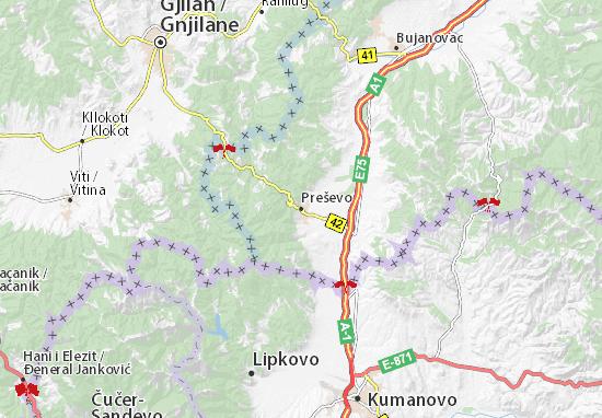 Preševo Map