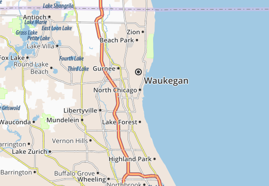 North Chicago Map