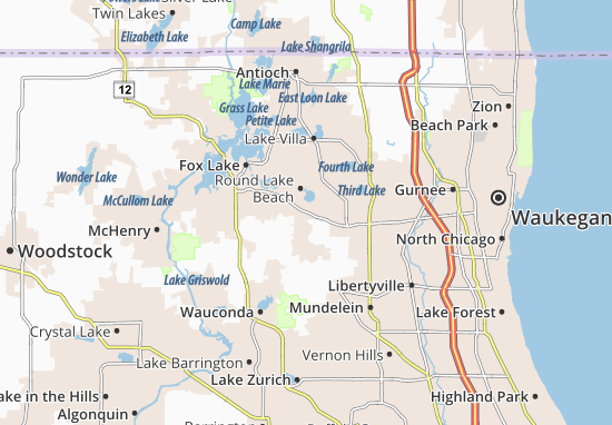 Mapas-Planos Round Lake Park