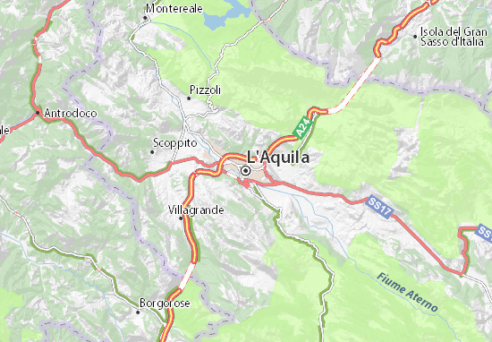 L'Aquila Map