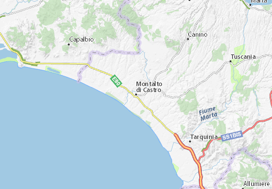 Carte-Plan Montalto di Castro