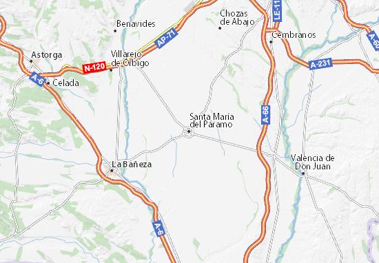 Mapas-Planos Santa María del Páramo