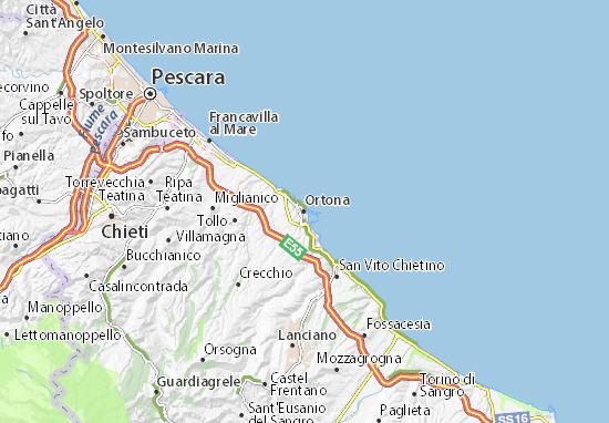 Carte-Plan Ortona