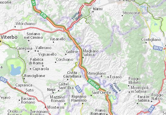 Magliano Sabina Map