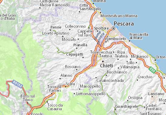 Cepagatti Map
