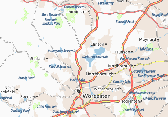 Mapas-Planos West Boylston