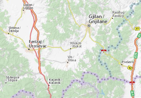 Kllokoti Map