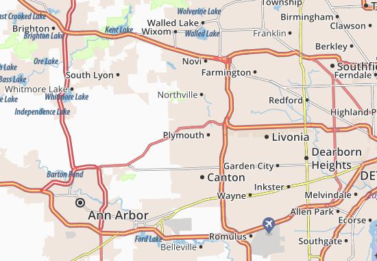 Carte-Plan Plymouth Township