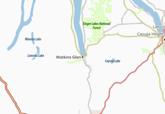 Watkins Glen Map