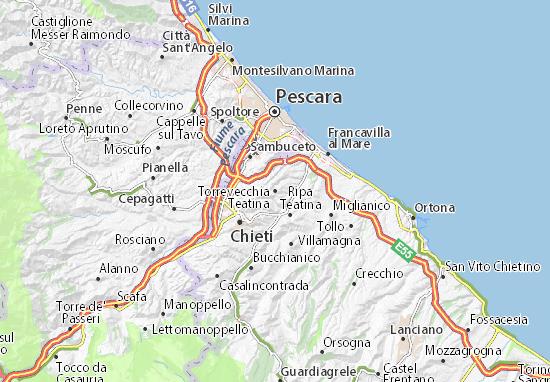 Mappe-Piantine Torrevecchia Teatina