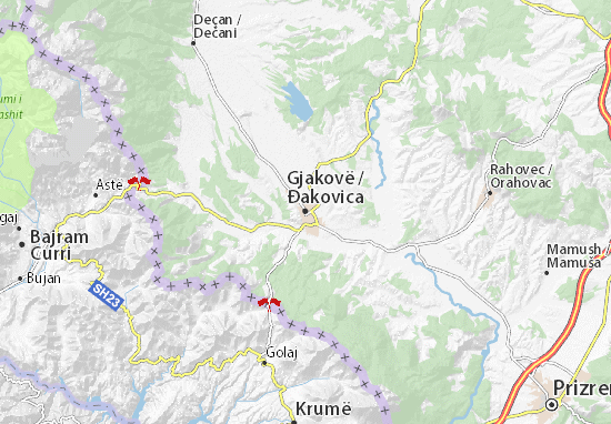 Mapa Plano Đakovica