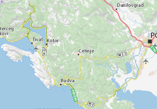 Cetinje Map
