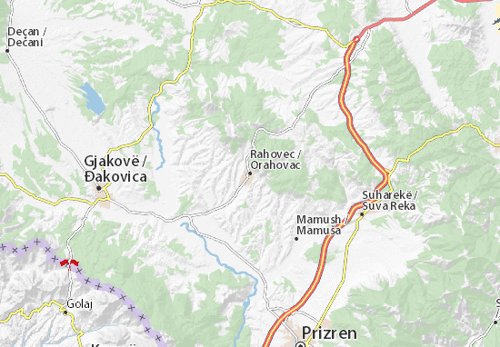 Orahovac Map