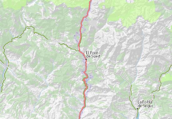 El Pont de Suert Map
