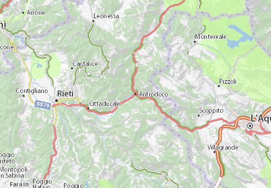 Rieti Italy Map.Map Of Antrodoco Michelin Antrodoco Map Viamichelin