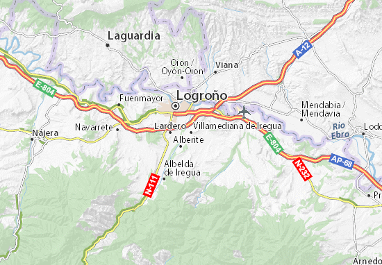 Mapa Plano Villamediana de Iregua