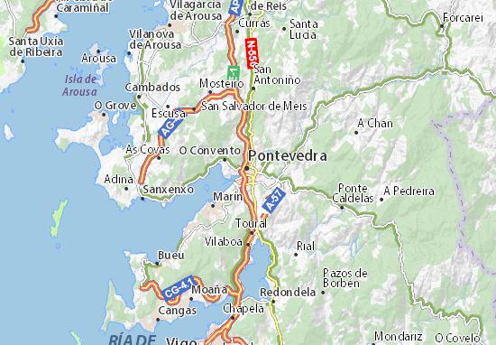 Mapas-Planos Pontevedra